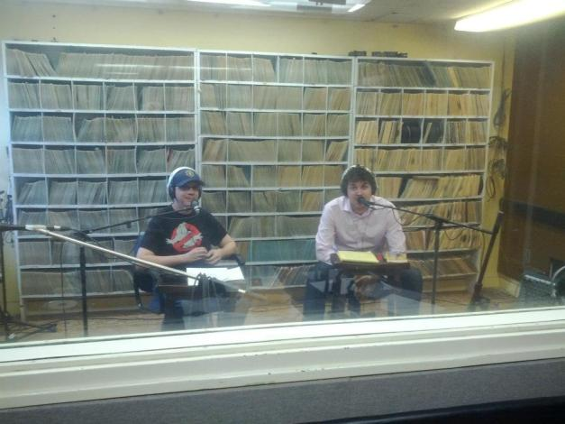 Richard and Joel in studio D